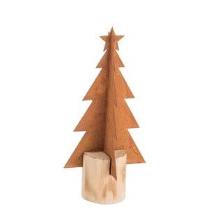 Vianočná kovová dekorácia J-Line Tree, výška 23 cm
