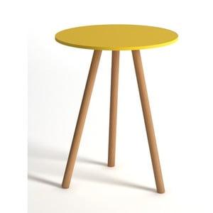 Žltý odkladací stolík Monte Tiny