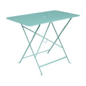 Svetlomodrý záhradný stolík Fermob Bistro, 97×57 cm
