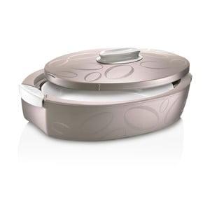 Hnedý oválný termo box so zapekacou misou Enjoy, 3 l