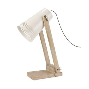 Stolová lampa s bielym tienidlom HF Living Master