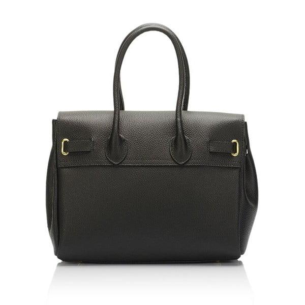 Čierna kožená kabelka Giulia Massari Concepta