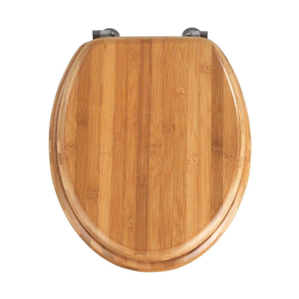 WC sedadlo z bambusového dreva Wenko Bamboo, 42,5 × 37 cm
