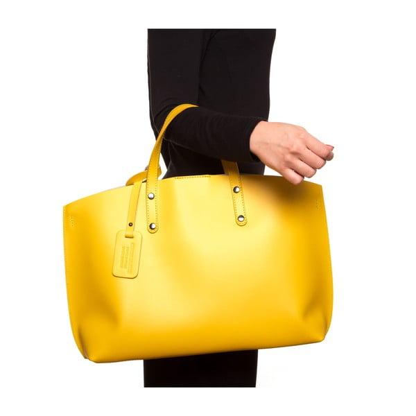 Kožená kabelka Luisa Vannini 3034, žltá