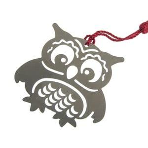 Kovová záložka do knihy v tvare sovy Just Mustard Owl