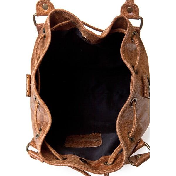 Kožená kabelka Risaga, koňaková
