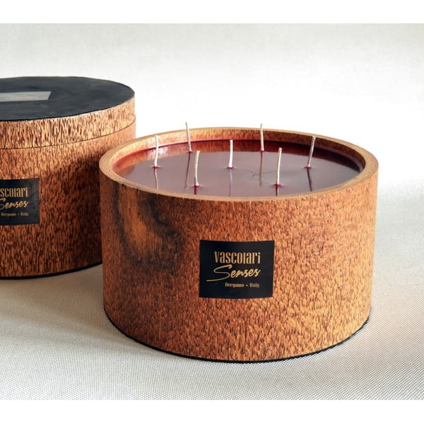 Palmová sviečka Palm Legno s vôňou exotického ovocia, 240 hodín horenia