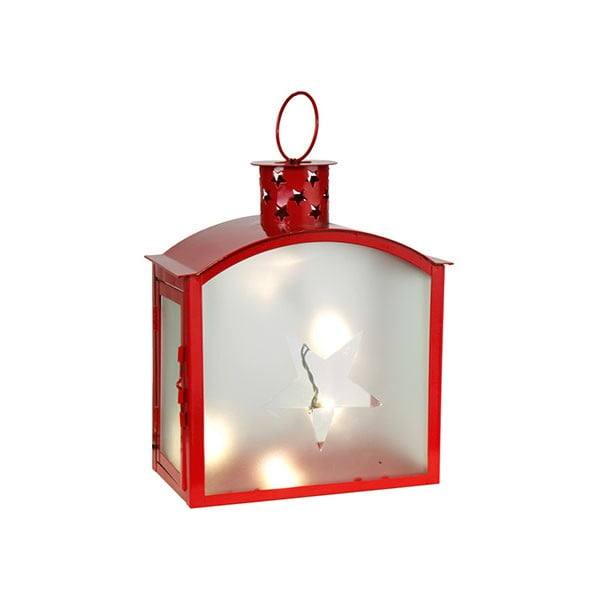 Červený LED lampáš Best Season Staris