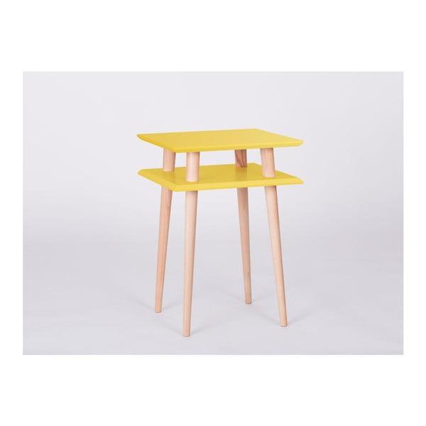 Konferenčný stolík UFO Square Yellow, 43cm (šírka) a 61cm (výška)
