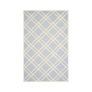 Vlnený koberec Mati 152x243 cm, svetlomodrý