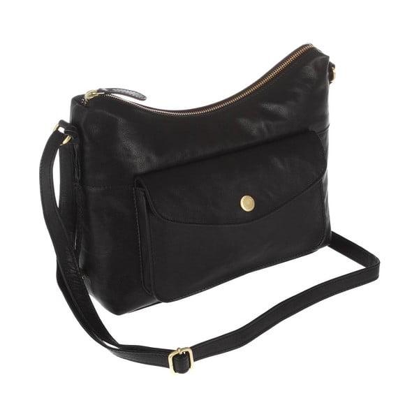 Dámska kožená taška Angel Black