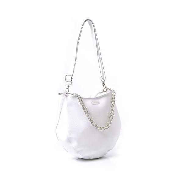 Kožená kabelka Melia, biela