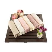 Sada 6 bavlnených uterákov Kalp, 30x50cm