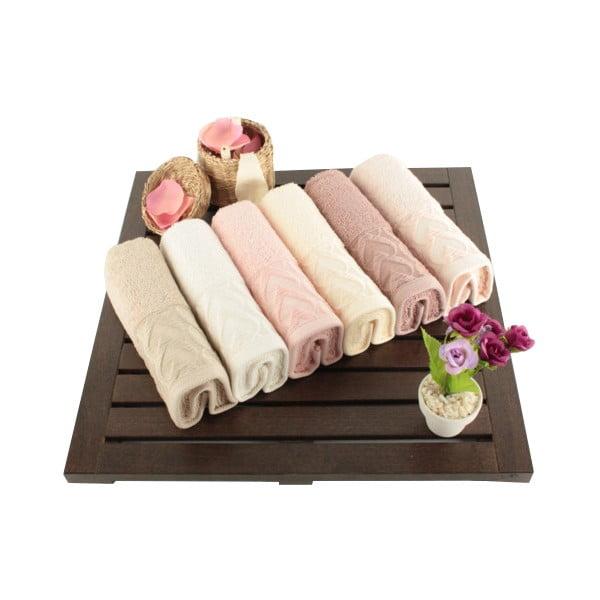 Sada 6 bavlnených uterákov Kalp, 30 × 50 cm