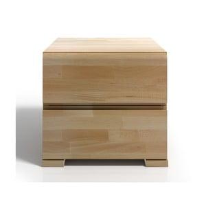 Nočný stolík z bukového dreva s 2 zásuvkami SKANDICA Vestre