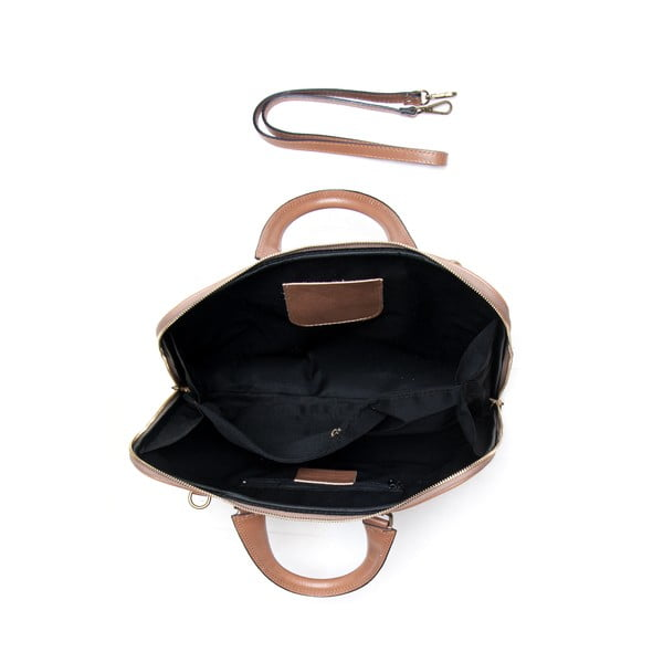Kožená kabelka Mangotti 375, kameň