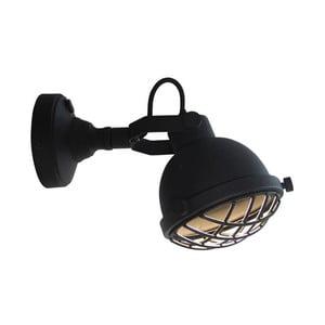 Čierne nástenné svietidlo LABEL51 Cas