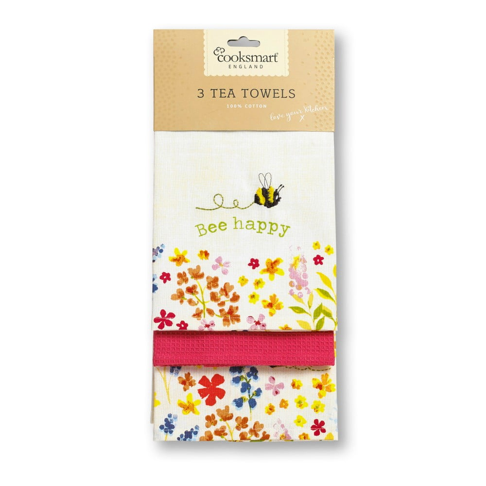 Sada 3 ks utierok Cooksmart England Flowers