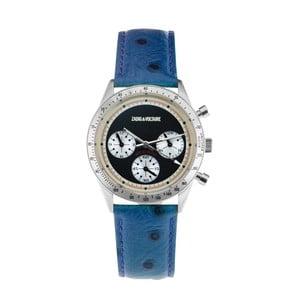 Dámske hodinky s modrým koženým remienkom Zadig & Voltaire Milano