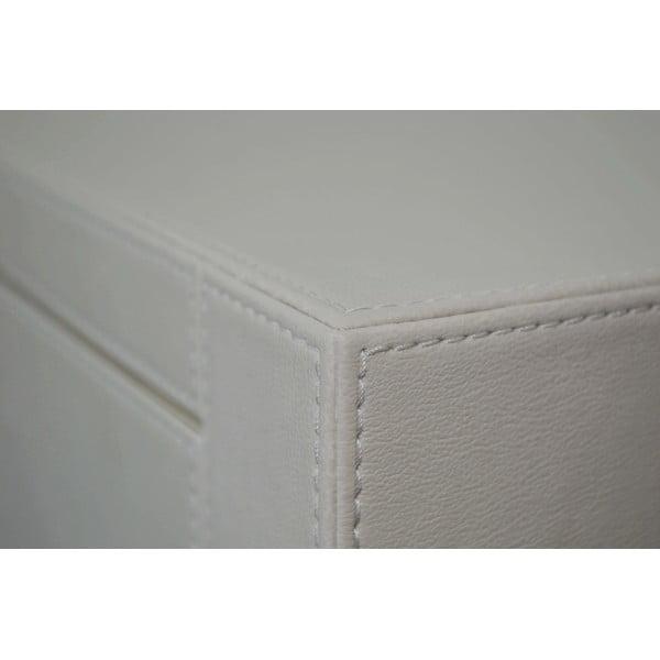 Koženkový odkladací stolík White