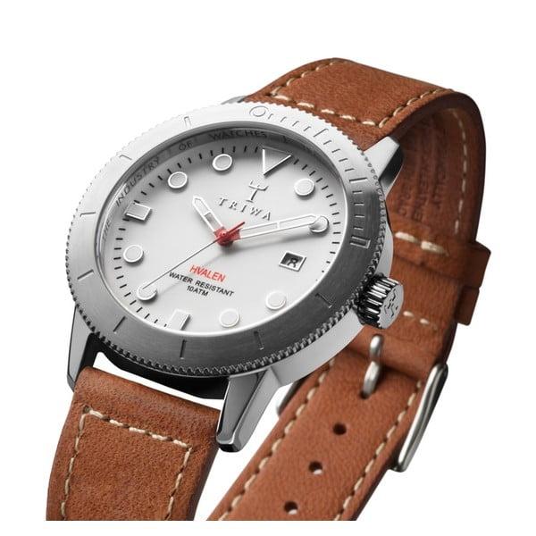 Unisex hodinky s hnedým koženým remienkom Triwa Ivory Hvalen Ivory