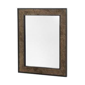 Nástenné zrkadlo v drevenom ráme Geese Fionne, 100×80 cm