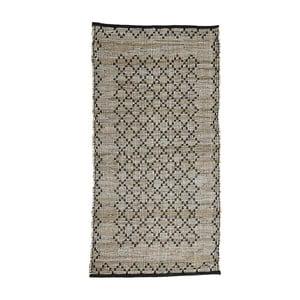 Sivý kožený koberec Simla, 300 × 200 cm