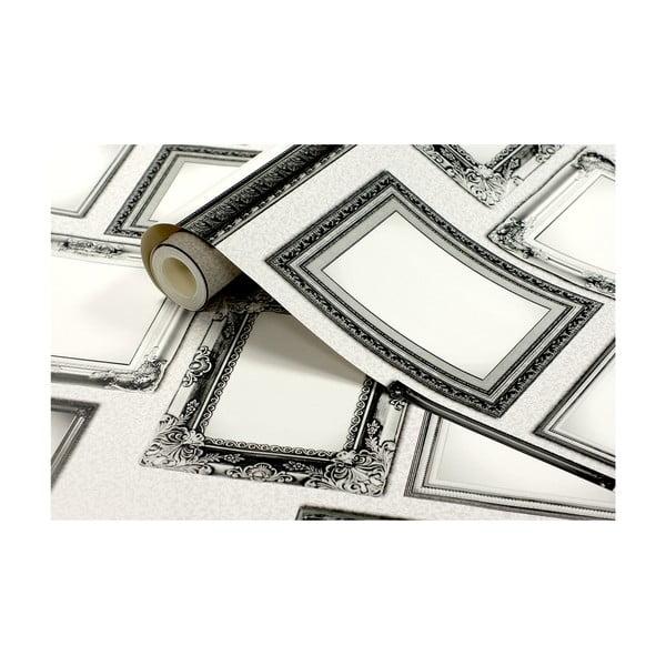 Tapetová rolka Rámčeky, 53x1005 cm