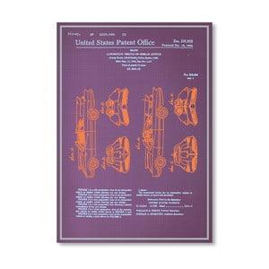 Plagát Batmobile Design, 30x42 cm