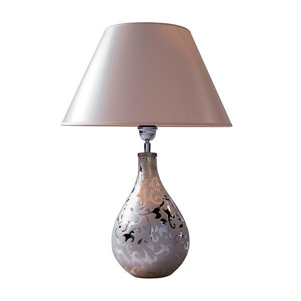 Stolová lampa Biela a strieborná
