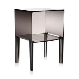Sivý transparentný nočný stolík Kartell Ghost Buster