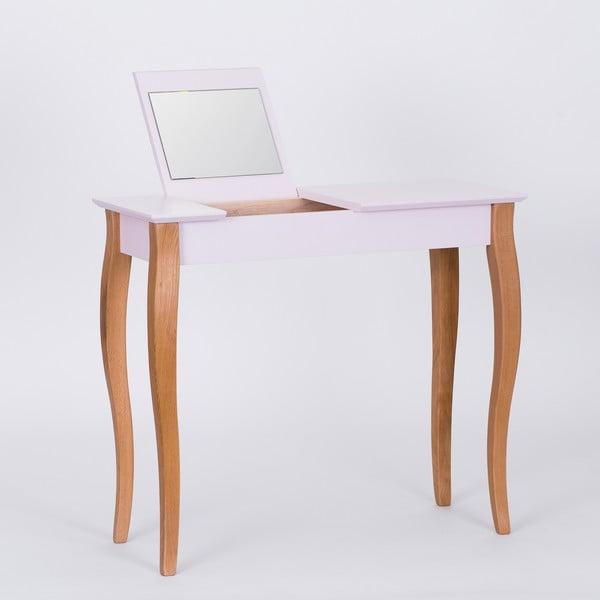 Ružový toaletný stolík sozrkadlom Ragaba Dressing Table,dĺžka85cm