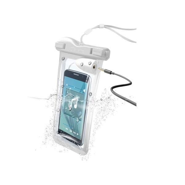 Vodoodolné univerzálne puzdro Cellularline VOYAGER MUSIC, biele