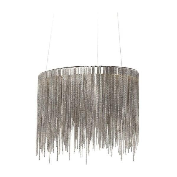 Stropné LED svietidlo v striebornej farbe Kare Design Fallen Chains Round
