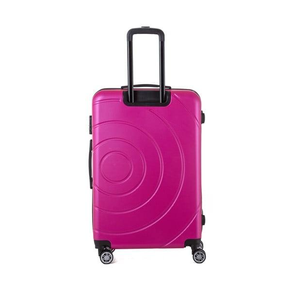 Ružový cestovný kufor Berenice Circle, 107 l