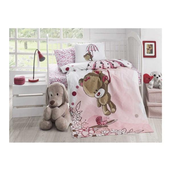 Ľahký prešívaný bavlnený pléd na jednolôžko Baby Pique Pinkie, 95×145 cm