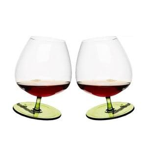 Sada 2 zelených hojdajúcich sa pohárov na brandy Sagaform
