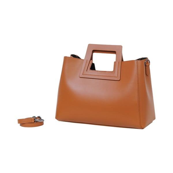 Hnedá kabelka z pravej kože Andrea Cardone Pietro