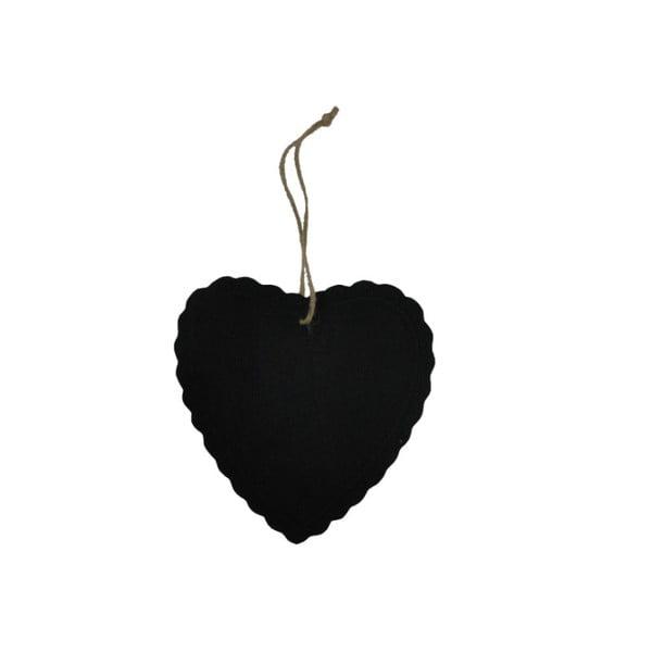 Závesná ceduľka na písanie kriedou Heart Decor