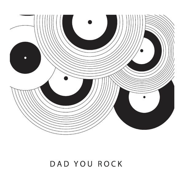 Plagát Dad You Rock, 30x40 cm