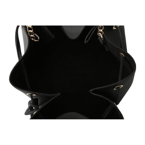 Čierna kabelka z eko kože Beverly Hills Polo Club Kate