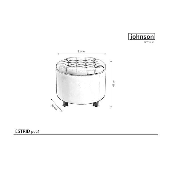 Svetloružový puf s úložným priestorom JohnsonStyle Estrid Mil, ⌀ 52 cm