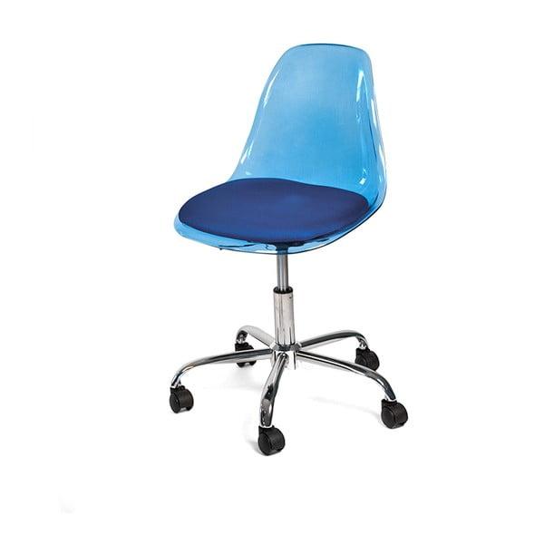 Pracovná stolička na kolieskach Plato, modrá