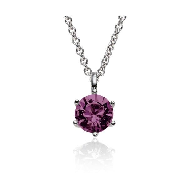 Sada náušníc a náhrdelníku Stone Violet