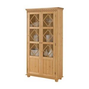 Dvojdverová vitrína z borovicového dreva Støraa Seattle