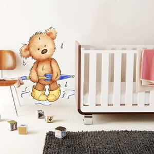Samolepka na stenu Rainy Teddy, 70x50 cm