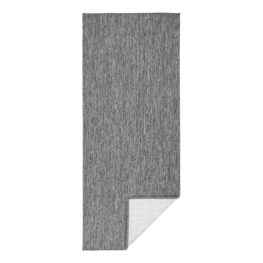 Sivý vonkajší koberec Bougari Miami, 80 x 250 cm