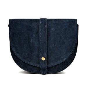 Modrá kožená kabelka Anna Luchini Brenda