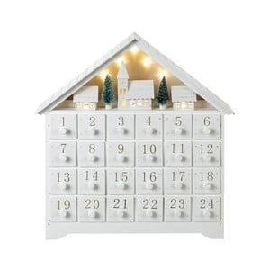 Adventný kalendár s LED osvetlením Parlane, výška 36 cm