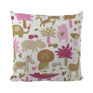 Vankúš Pink Safari, 50x50 cm